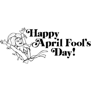 April fools day clipart black and white vector stock April fool's day gifs and jokes vector stock