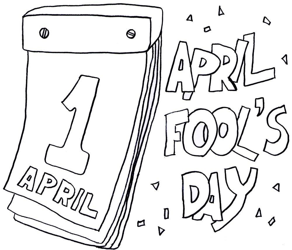 April fools dayv for kids clipart. Coloring pages printables day