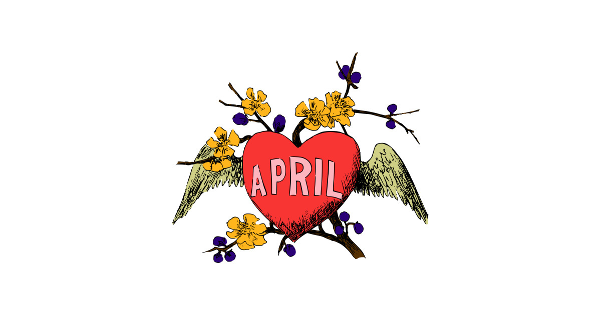 April illustrated month clipart clipart transparent stock LIMITED EDITION. Exclusive Illustrated Months (April, Colour) by  enotademdesign clipart transparent stock