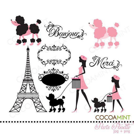 April in paris clipart transparent download French Poodle Clipart Paris Poodle Clip Art | PARIS | Paris birthday ... transparent download