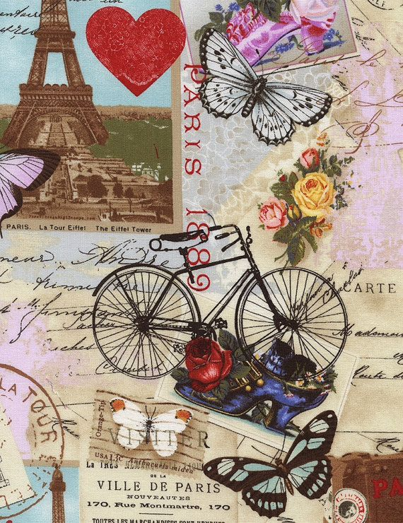 April in paris clipart royalty free download Last 3/4 Yard April in Paris by Timeless by SewPerfectlyVintage ... royalty free download
