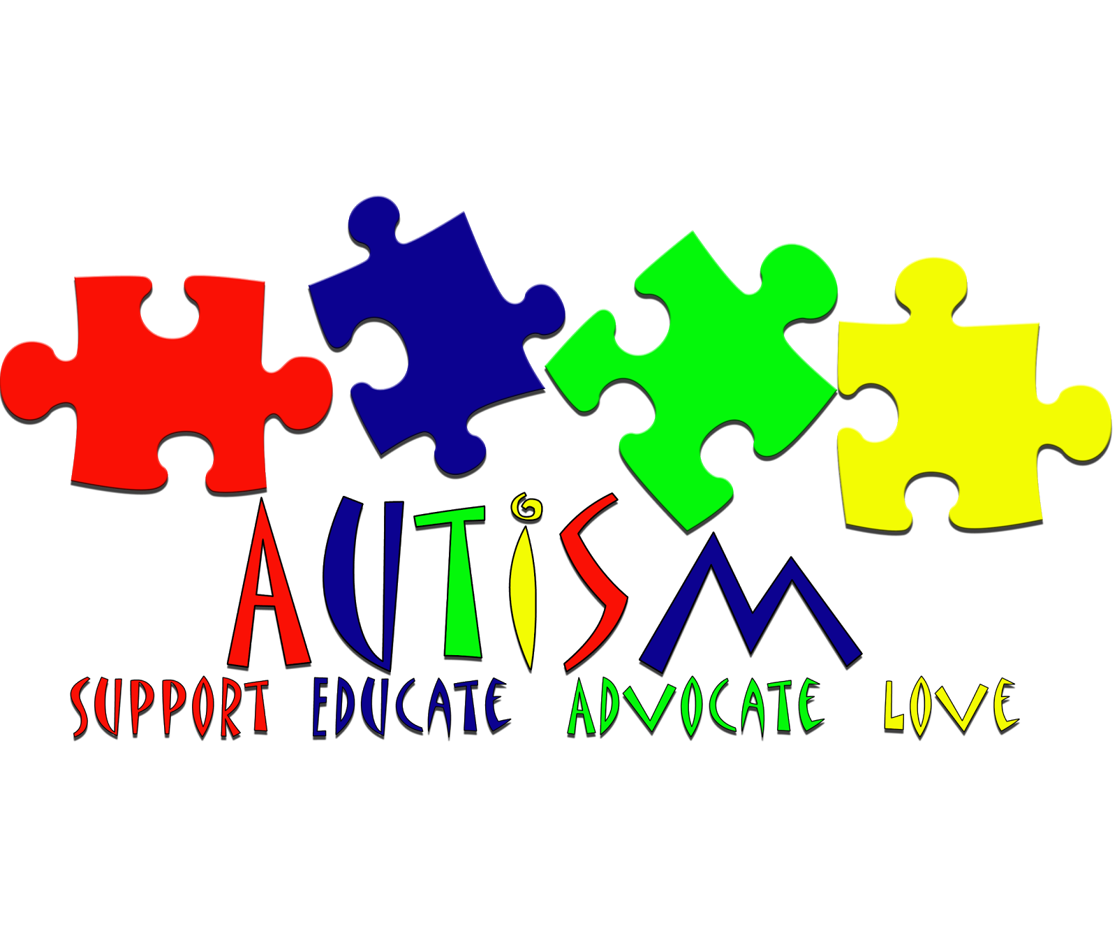 April is autism awareness month clip art vector free Autism speaks clipart - ClipartFest vector free