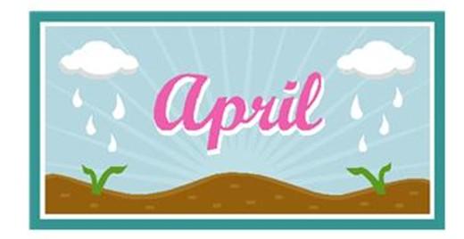 April month clip art