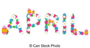 Illustrations and stock art. April month clipart
