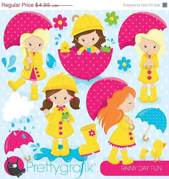 April pretty girl clipart.  off sale showers