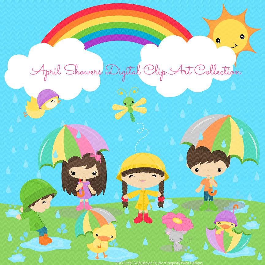 April shower clip art jpg royalty free download April Showers Clipart 4 - WikiClipArt jpg royalty free download