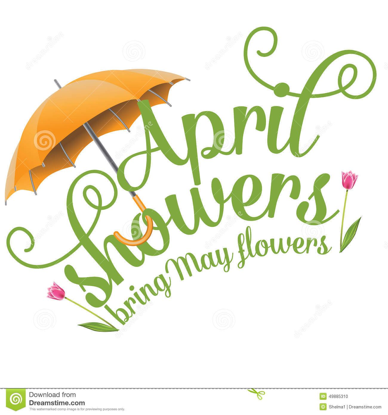 April shower clipart svg free stock April Clip Art | April Showers Bring May Flowers Design Stock Vector ... svg free stock