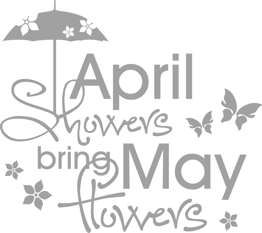April showers bring may flowers clipart in black and white picture royalty free library 28+ Collection of April Showers Clipart Black And White | High ... picture royalty free library