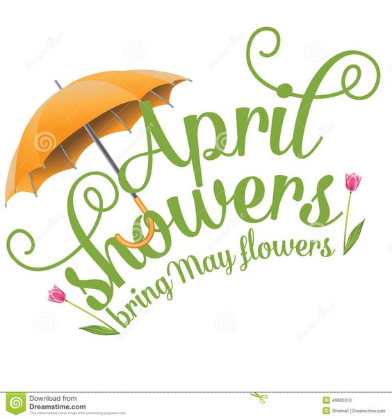 April showers bring may flowers clipart in black and white picture stock April Clip Art | April Showers Bring May Flowers Design Stock ... picture stock