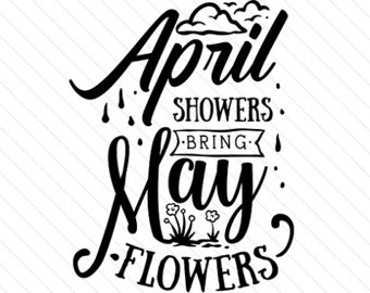 April showers bring may flowers clipart in black and white vector transparent stock April showers bring | Etsy vector transparent stock