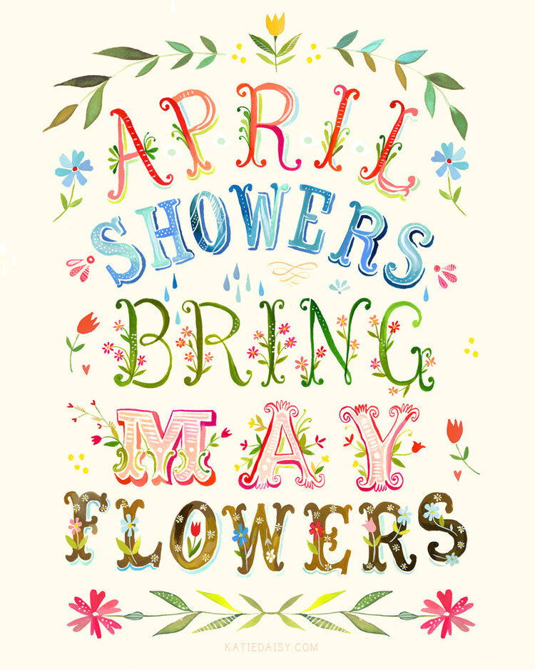 April showers bring may flowers clipart in black and white picture freeuse April Showers Brings May Flowers — Boys & Girls Club of Fort Atkinson picture freeuse