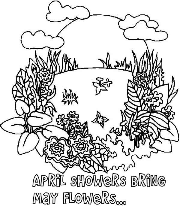 April showers bring may flowers clipart in black and white freeuse download April showers bring may flowers clip art - April Showers Bring May ... freeuse download