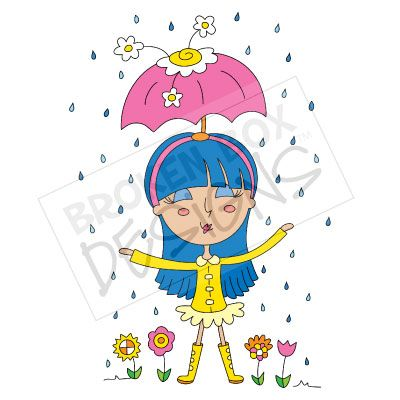 April showers bring may flowers with kids free clipart