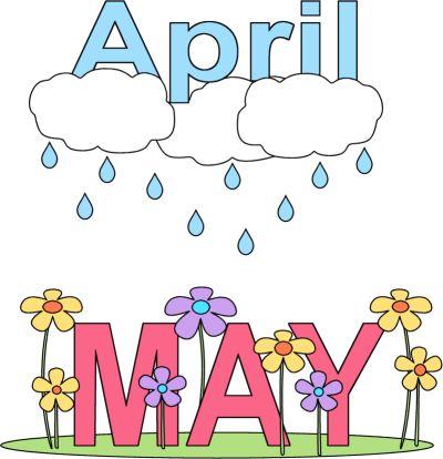 April showers calendar clipart vector freeuse 17 Best images about April on Pinterest | Happy spring, Clip art ... vector freeuse