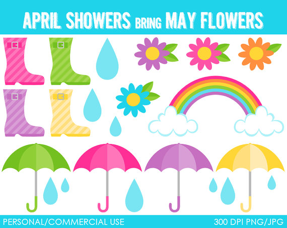 April showers clip art graphic royalty free download April Showers Clipart - Clipart Kid graphic royalty free download