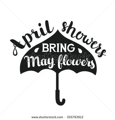 April showers clipart black and white graphic library download April Showers Stock Images, Royalty-Free Images & Vectors ... graphic library download