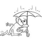 April showers clipart black and white image library library Clip Art Image Gallery | Similar Image: Cartoon Dog April Showers ... image library library