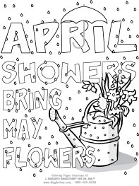 April showers clipart to color image library stock April showers clipart to color - ClipartFest image library stock