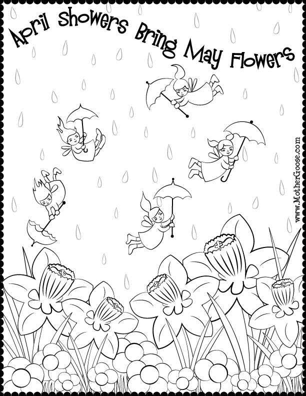 April showers clipart to color png black and white library April showers clipart to color - ClipartFest png black and white library