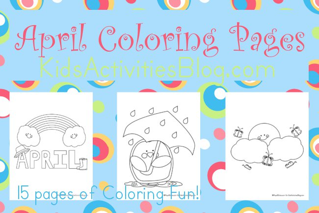 April showers clipart to color banner library stock 15 April Coloring Pages for Kids banner library stock