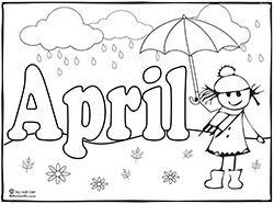 April showers clipart to color png free download Top 25 ideas about Spring Coloring Pages on Pinterest | Mothers ... png free download