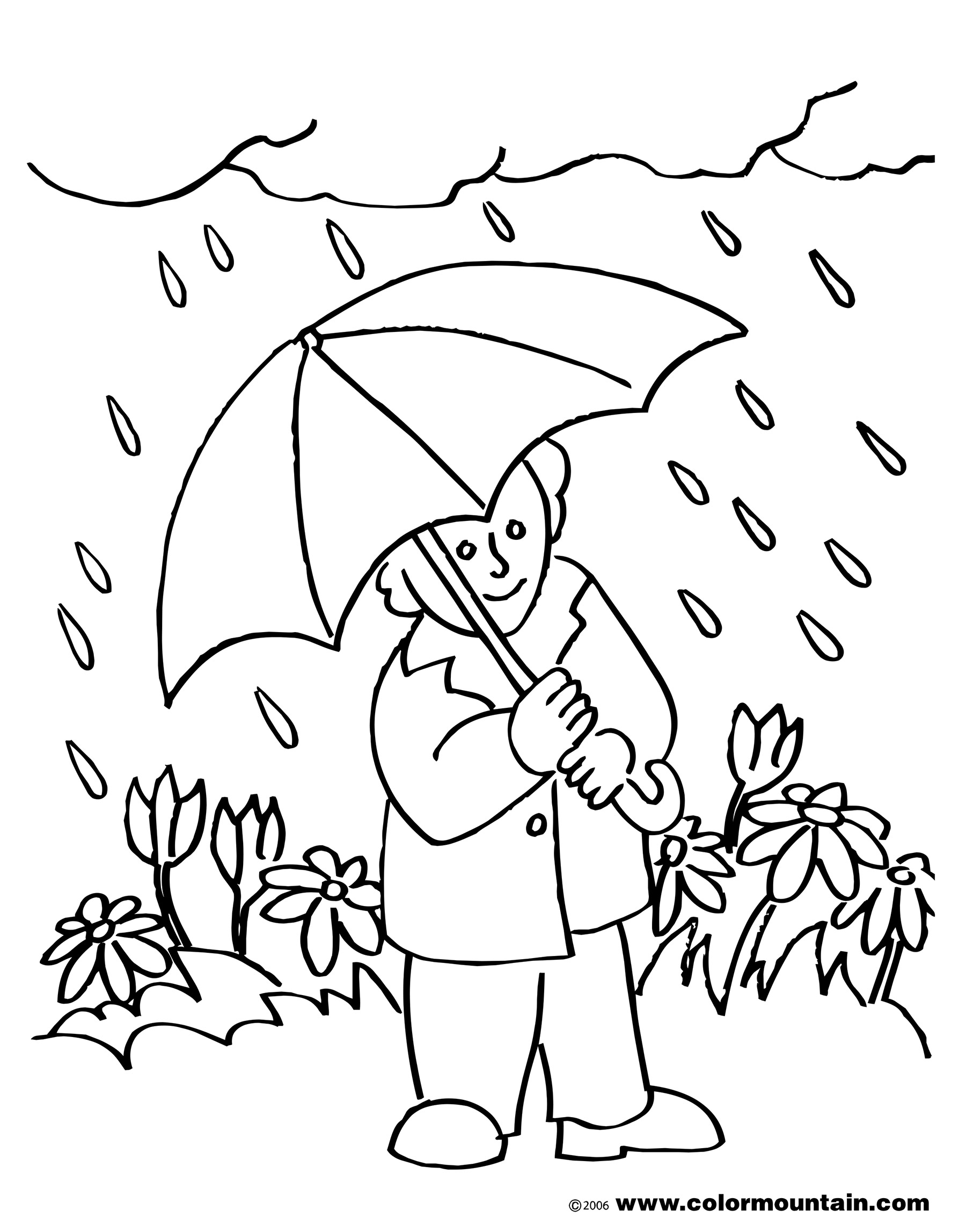April showers clipart to color clip art download image versions s. 15 april coloring pages for kids. astounding ... clip art download