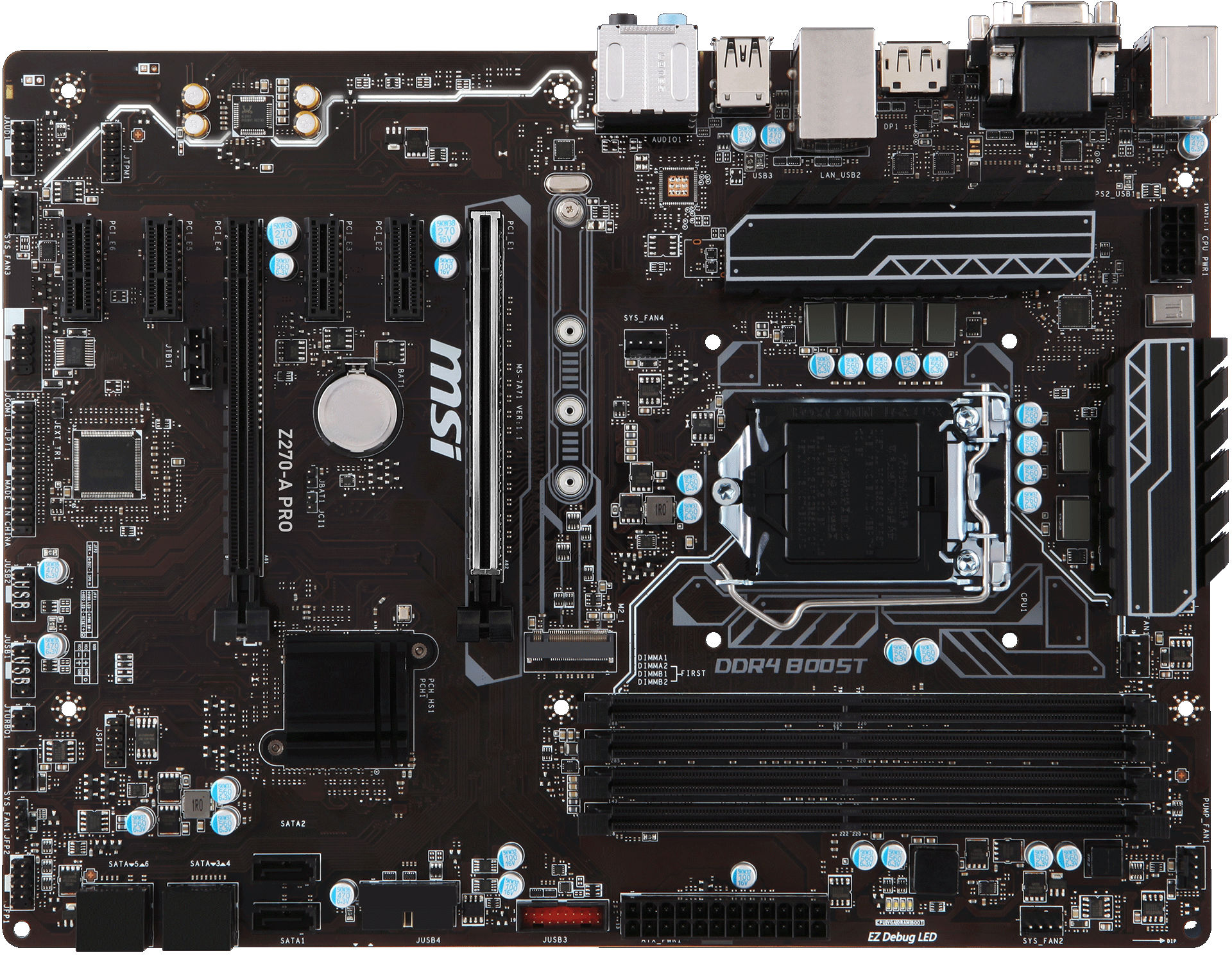Apro audio components clipart picture transparent library Z270-A PRO | Motherboard - The world leader in motherboard design ... picture transparent library