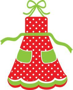 Clipart of apron image library CHRISTMAS APRON CLIP ART | Pretty Aprons | Christmas aprons, Clip ... image library