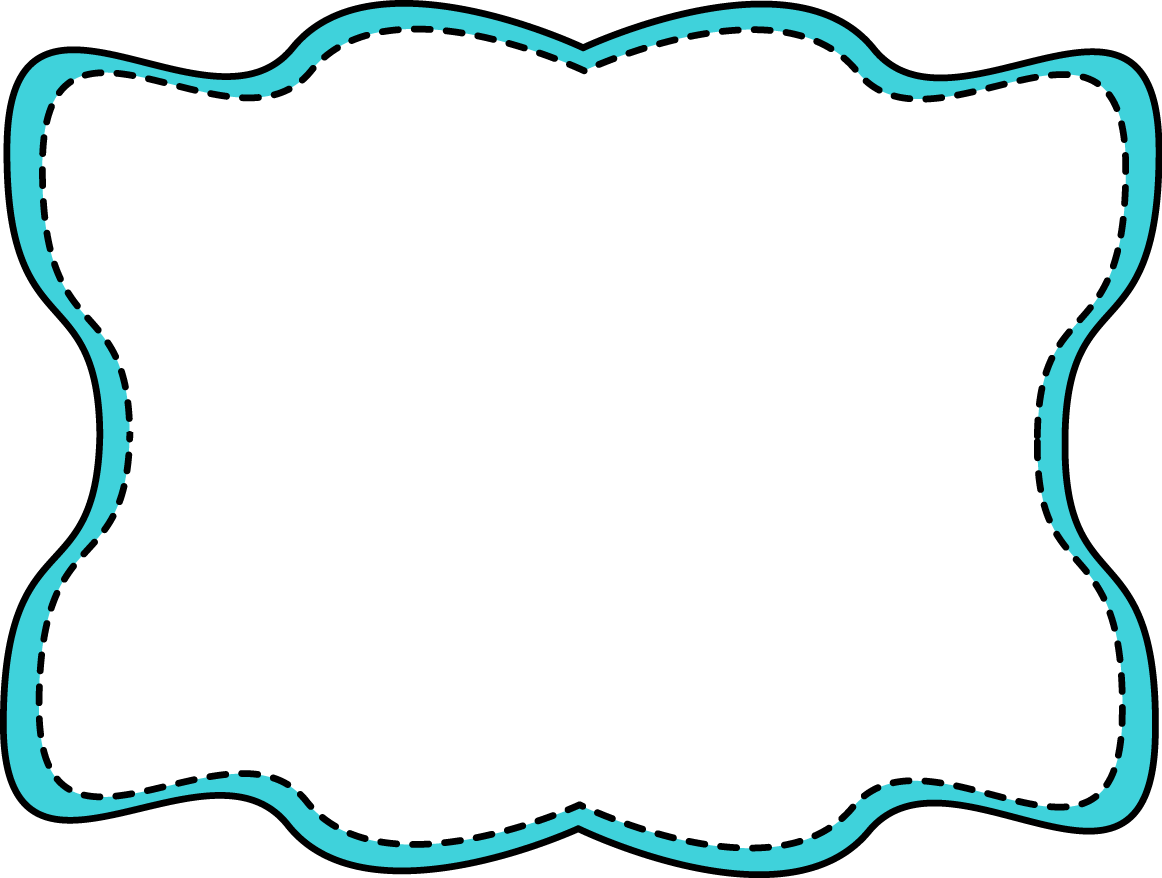 Aqua blank book clipart jpg library free clip art for teachers   Blue Wavy Stitched Frame - blue and ... jpg library