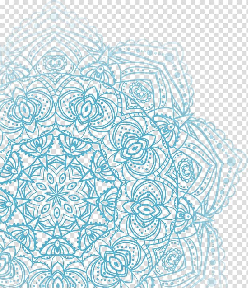 Aqua blue brown mandala clipart clip free library Blue mandala illustration, Blue Watercolor painting Motif, Blue ... clip free library