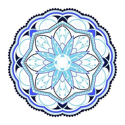 Aqua blue brown mandala clipart clip art black and white library Mandalas Pattern Royalty Free Stock Vectors | rawpixel clip art black and white library