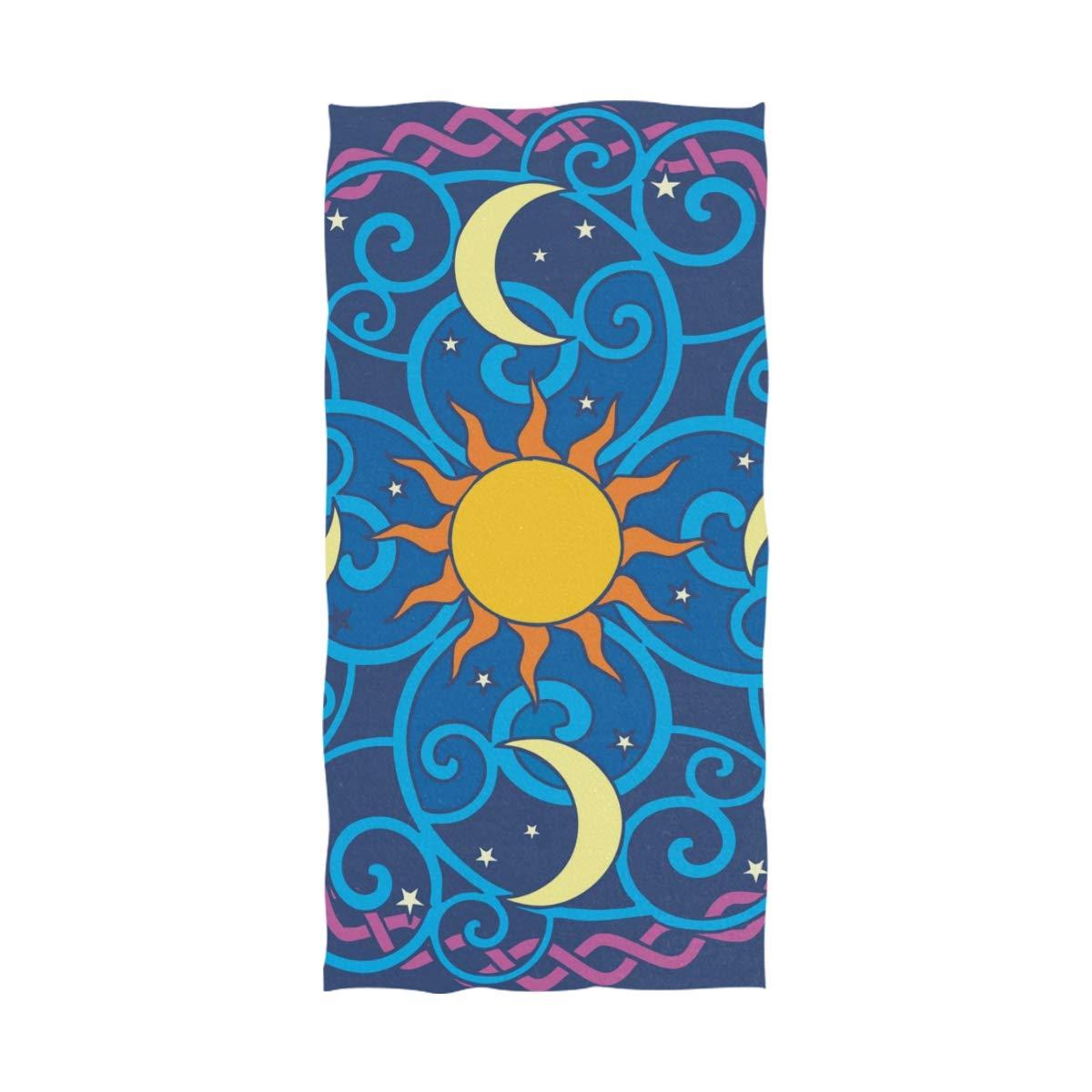 Aqua blue brown mandala clipart banner transparent download Amazon.com: FAJRO Sun-Moon-Mandala-Vector-Clipart Sports Towel Bath ... banner transparent download