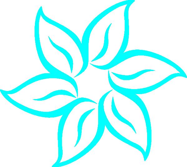 Aqua flower clipart jpg royalty free download Aqua Flower Outline Clip Art at Clker.com - vector clip art online ... jpg royalty free download