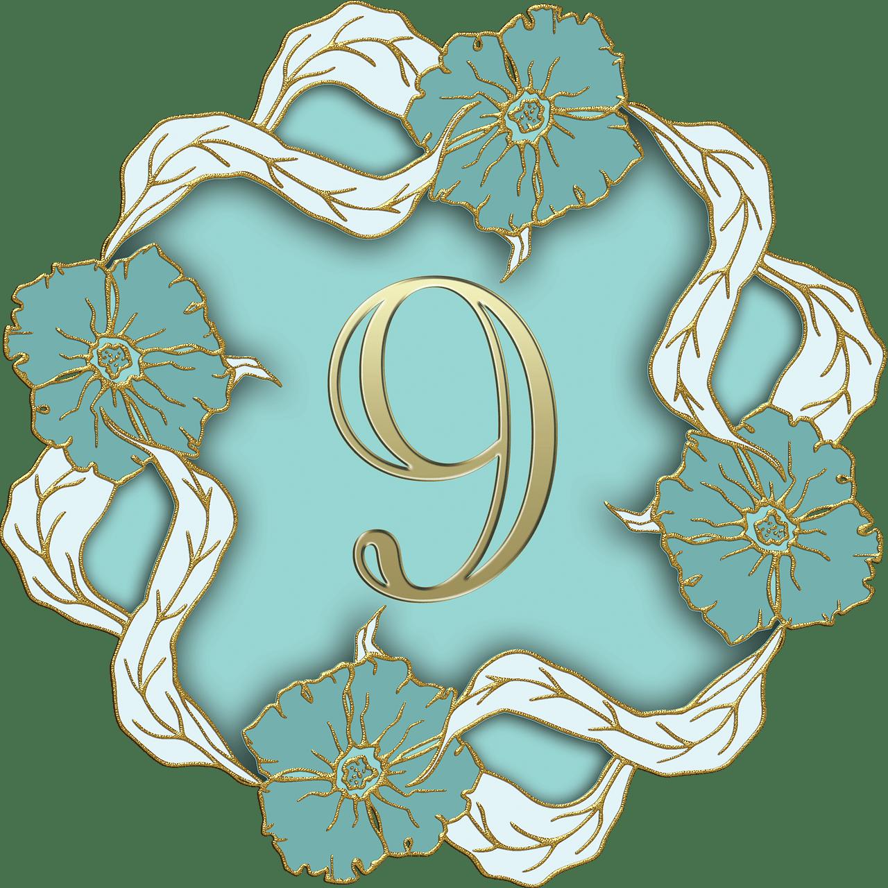 Aqua flower clipart banner freeuse stock Flower Theme Number 9 transparent PNG - StickPNG banner freeuse stock