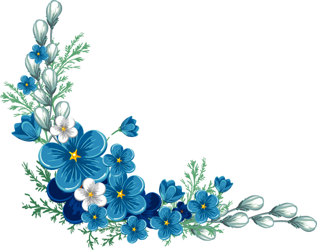 Blue flower clipart borders image black and white download My Gifting Shop – Online Gifting Solution Place image black and white download
