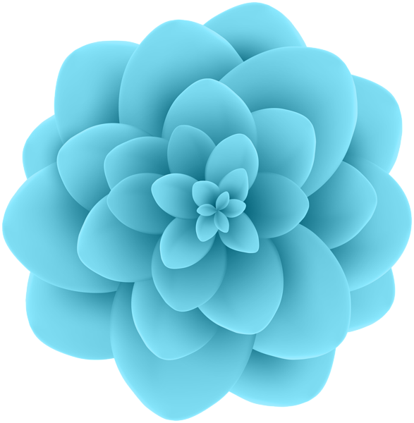 Clipart flower blue picture free Deco Blue Flower Transparent Clip Art Image | Gallery Yopriceville ... picture free
