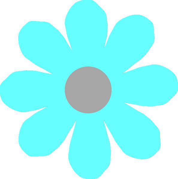 Aqua flower clipart png free stock Aqua Flower Clip Art at Clker.com - vector clip art online, royalty ... png free stock