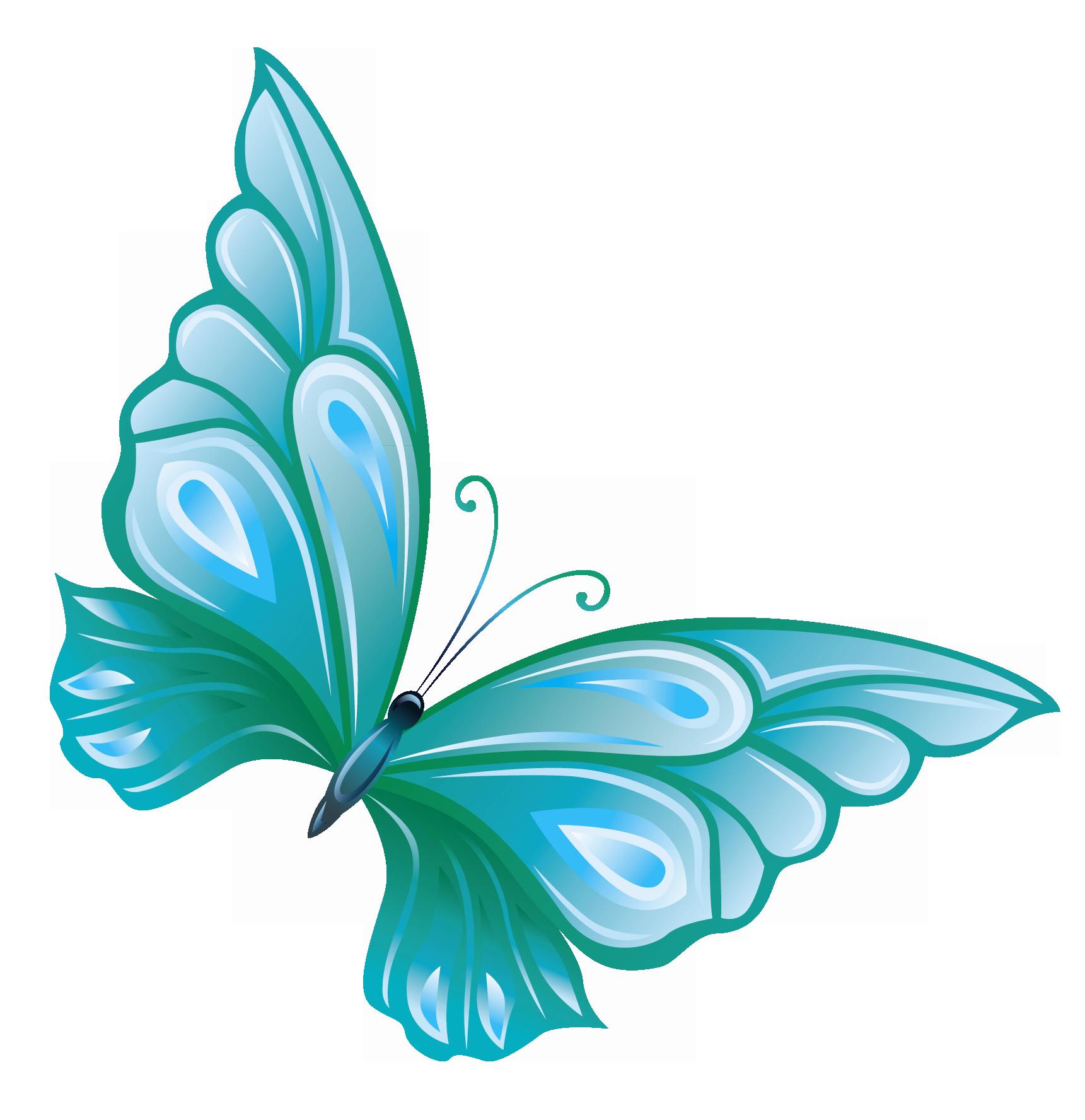 Aqua flower clipart clip art royalty free library Butterfly Clip art - Transparent Blue Butterfly PNG Clipart 1721 ... clip art royalty free library