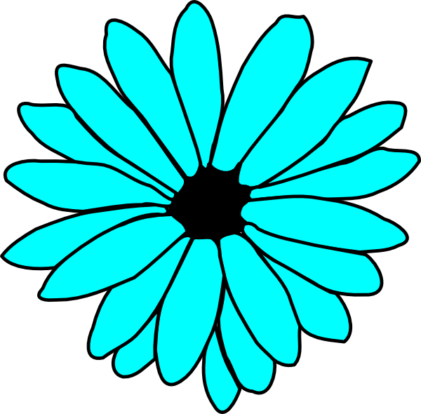 Aqua flower clipart clip transparent Turquoise Flower Clipart & Turquoise Flower Clip Art Images #2396 ... clip transparent
