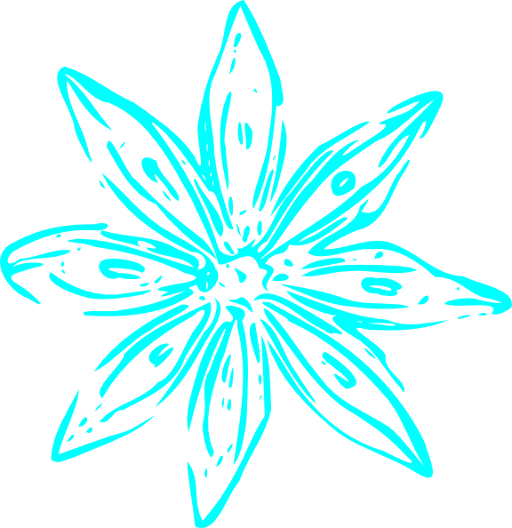 Aqua flower clipart banner library library Aqua Flower Clip Art at Clker.com - vector clip art online, royalty ... banner library library