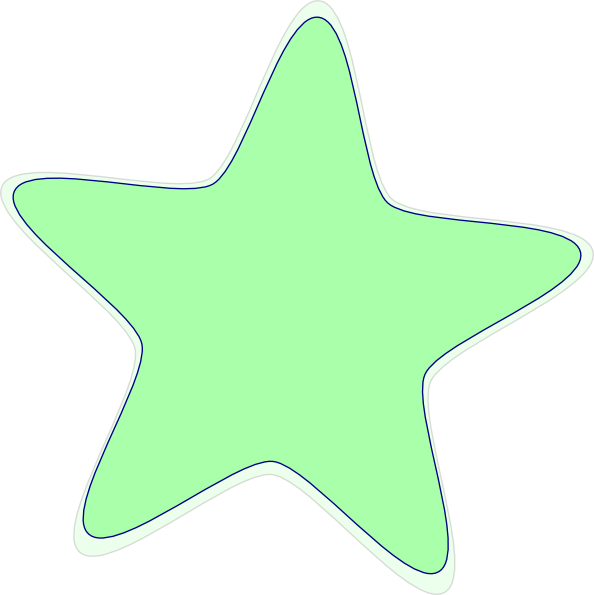 Green star clipart picture black and white library Green Star Clip Art at Clker.com - vector clip art online, royalty ... picture black and white library