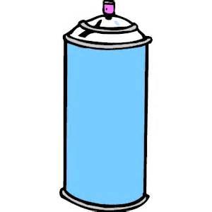 Blue hair spray clipart