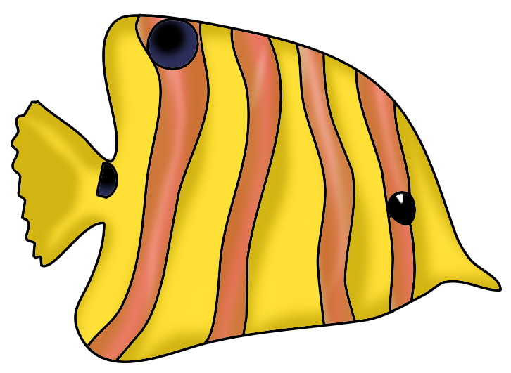 clipart orange fish #12