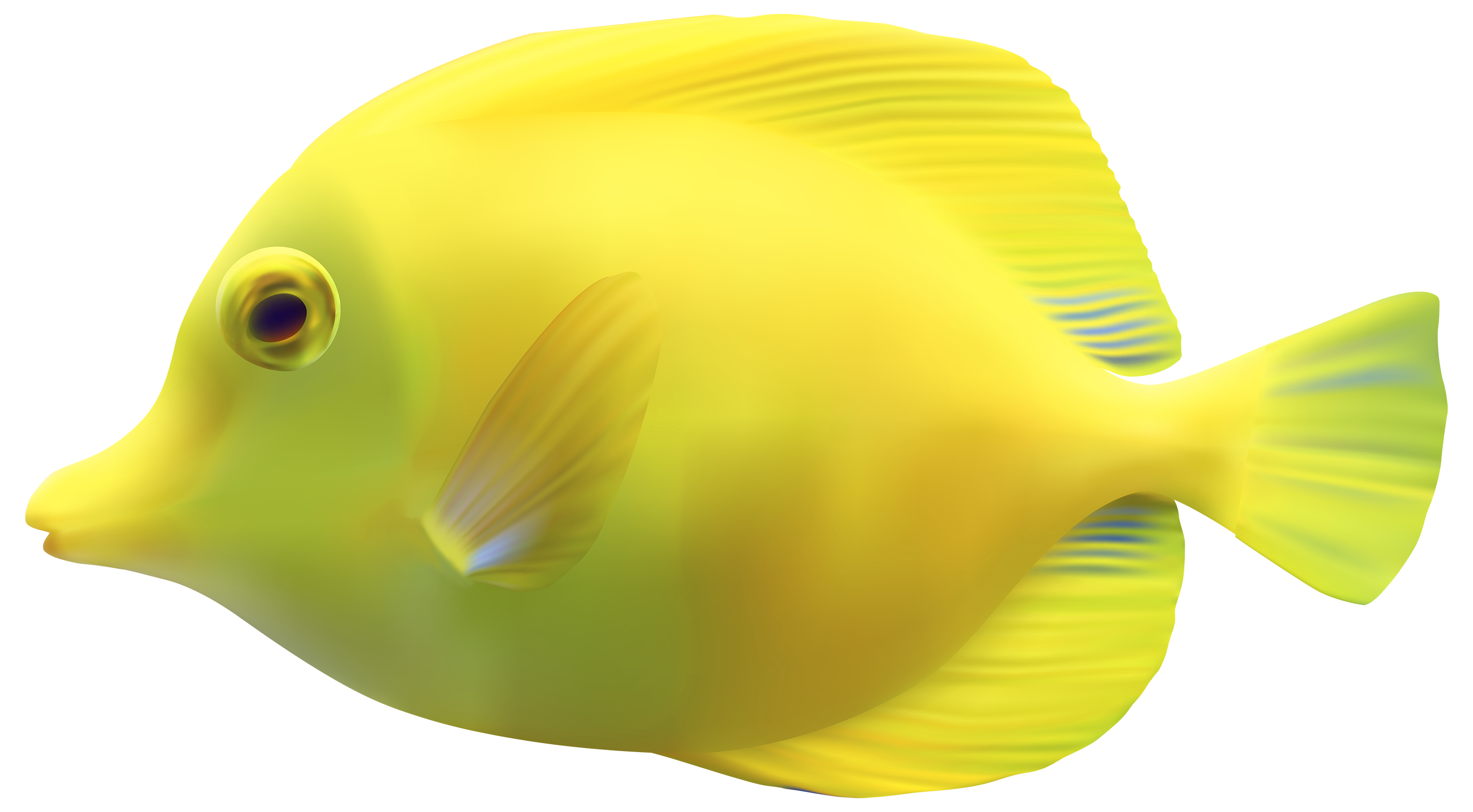 Yellow fish background clipart graphic royalty free download Yellow ZebrasomaTang Fish PNG Clipart - Best WEB Clipart graphic royalty free download