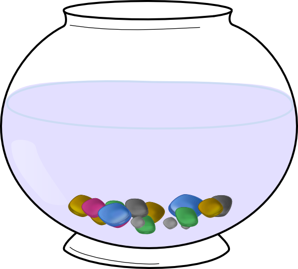 Fish in a tank clipart. Empty aquarium
