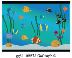 Free clipart aquarium clipart transparent download Aquarium Clip Art - Royalty Free - GoGraph clipart transparent download