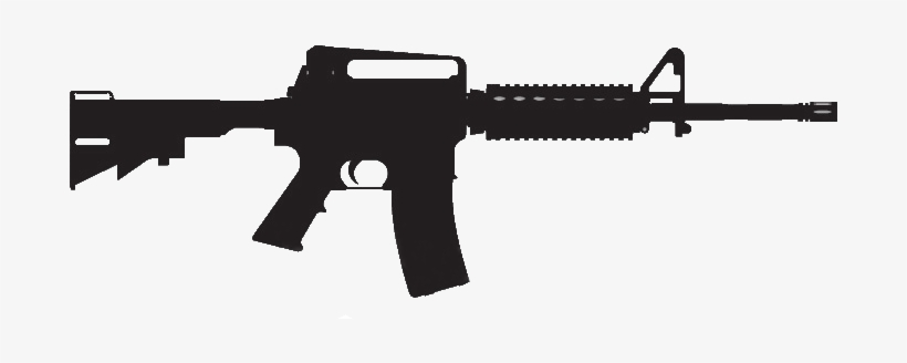 Clipart assault rifle picture black and white stock Assault Rifle Clipart Ar 15 - Ar 15 - Free Transparent PNG Download ... picture black and white stock