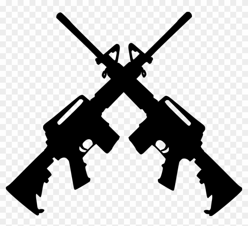 Ar 15 png clipart graphic free download Ar15s-crossed File Size - Crossed Ar 15 Clipart, HD Png Download ... graphic free download
