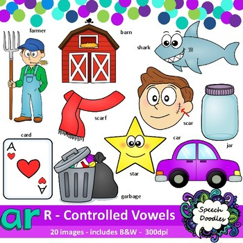 Ar words image clipart png black and white library Ar clipart - R Controlled Vowels clipart - Bossy R clipart png black and white library