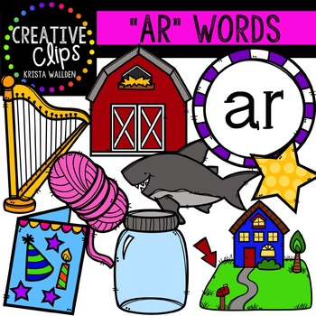 Ar words image clipart svg transparent stock R-Controlled Vowels: AR {Creative Clips Digital Clipart} | Phonics ... svg transparent stock
